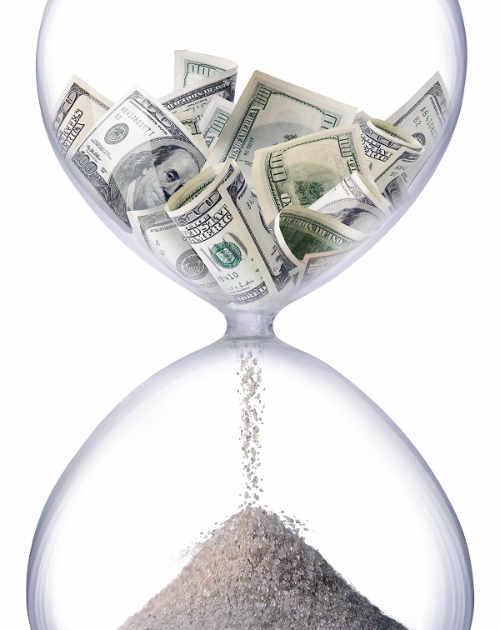 Sablier le temps c'est de l'argent