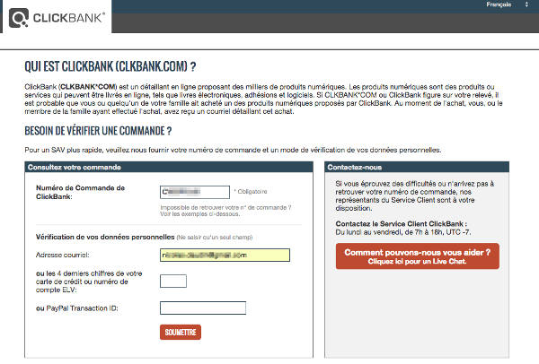 copie ecran clickbank no abonnement_600