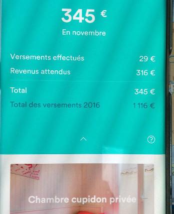Une belle somme obtenue grâce à Airbnb, et cela en quelques mois