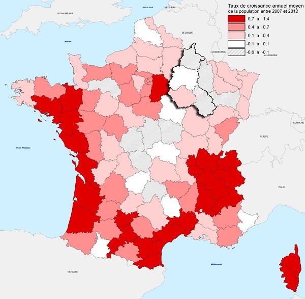 Investissement Immobilier: la carte de la croissance de la population