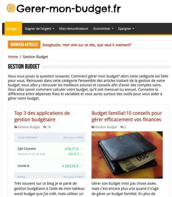 Johann gestion de budget