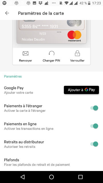 carte n26 avis options