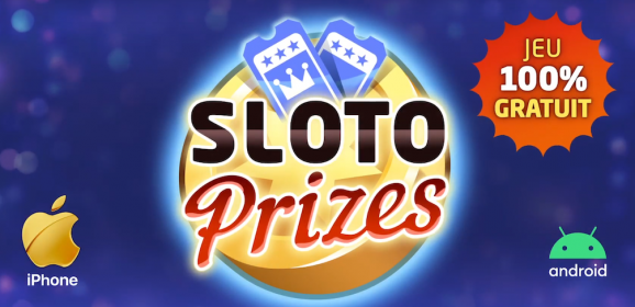 Gagne de l'argent et des cadeaux avec l'application Sloto Prizes.